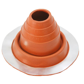 No 2 Silicone Universal Round Base Pipe Boot
